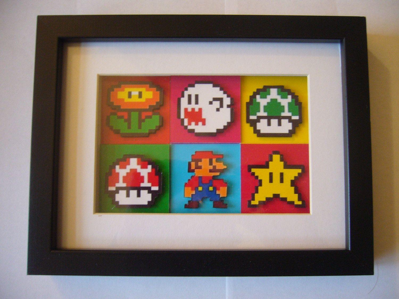 Super Mario Pop Art 3D Shadow Box Diorama Art Pixel Art | 8 Bit ...