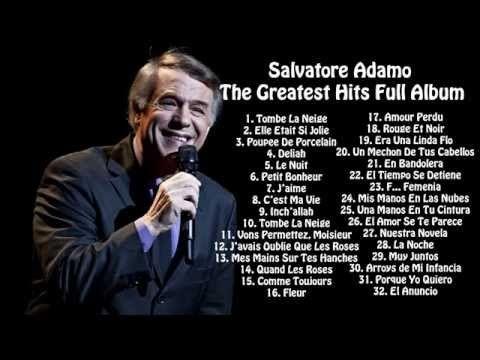 Adamo Tombe La Neige Youtube Best Songs Songs Music Albums