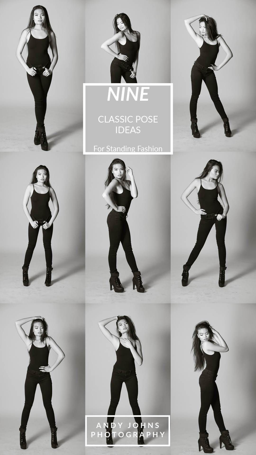 9 Classic Pose Ideas for Standing Fashion  These standing