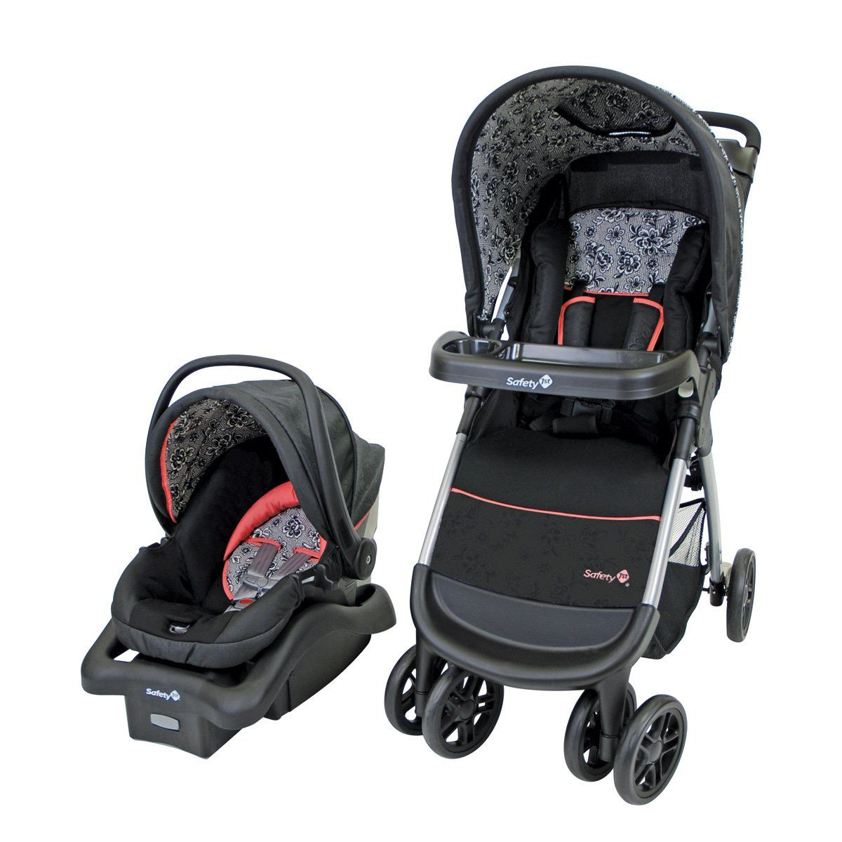 Safety 1st Amble Quad Travel System Gentle Lace Travel