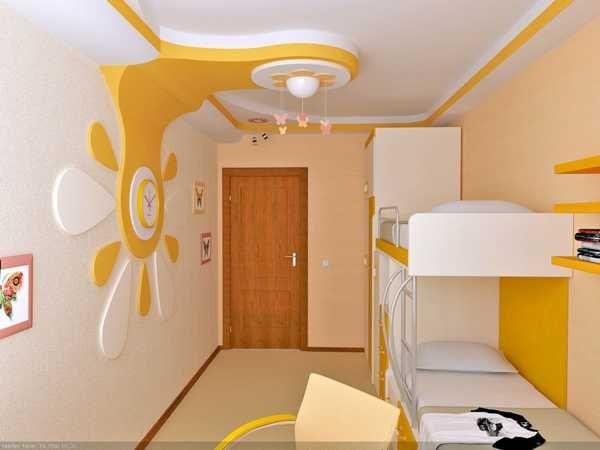 22 Modern Kids Room Decorating Ideas That Add Flair To Ceiling Designs Ceiling Design Bedroom Bedroom Design Bedroom False Ceiling Design Best creative kids room false