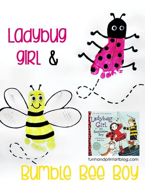 Ladybug Footprint and Bee Craft | Favorite Kid Pinners