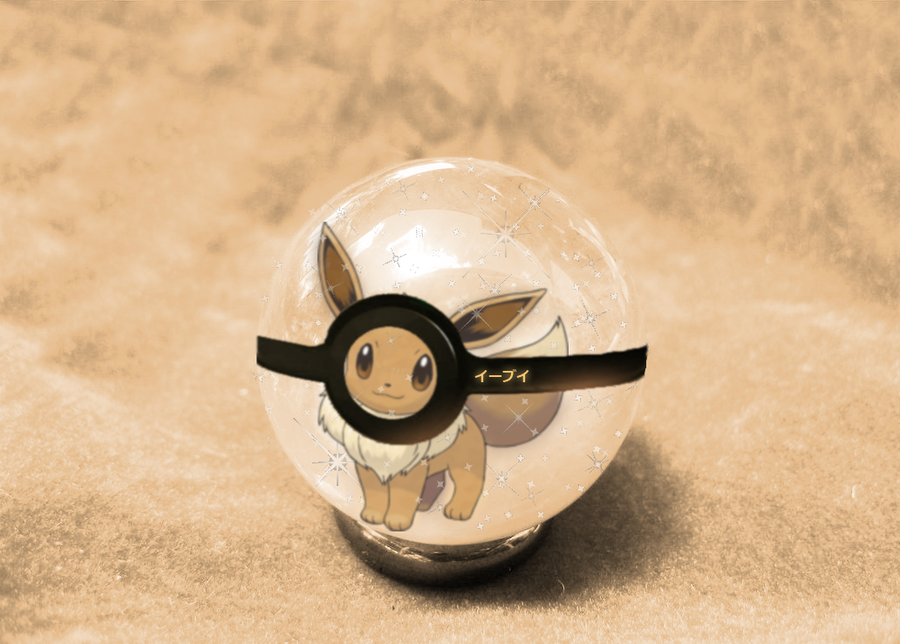 Eevee Pokeball by animejunkey54.deviantart.com on @DeviantArt