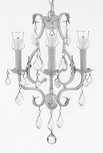 Wrought iron mini chandelier with votive candles chandeliers wrought iron mini chandelier with votive candles chandeliers lighting 3 lights 21 x 17 for indoor outdoor use great for outdoor events hang from trees aloadofball Choice Image