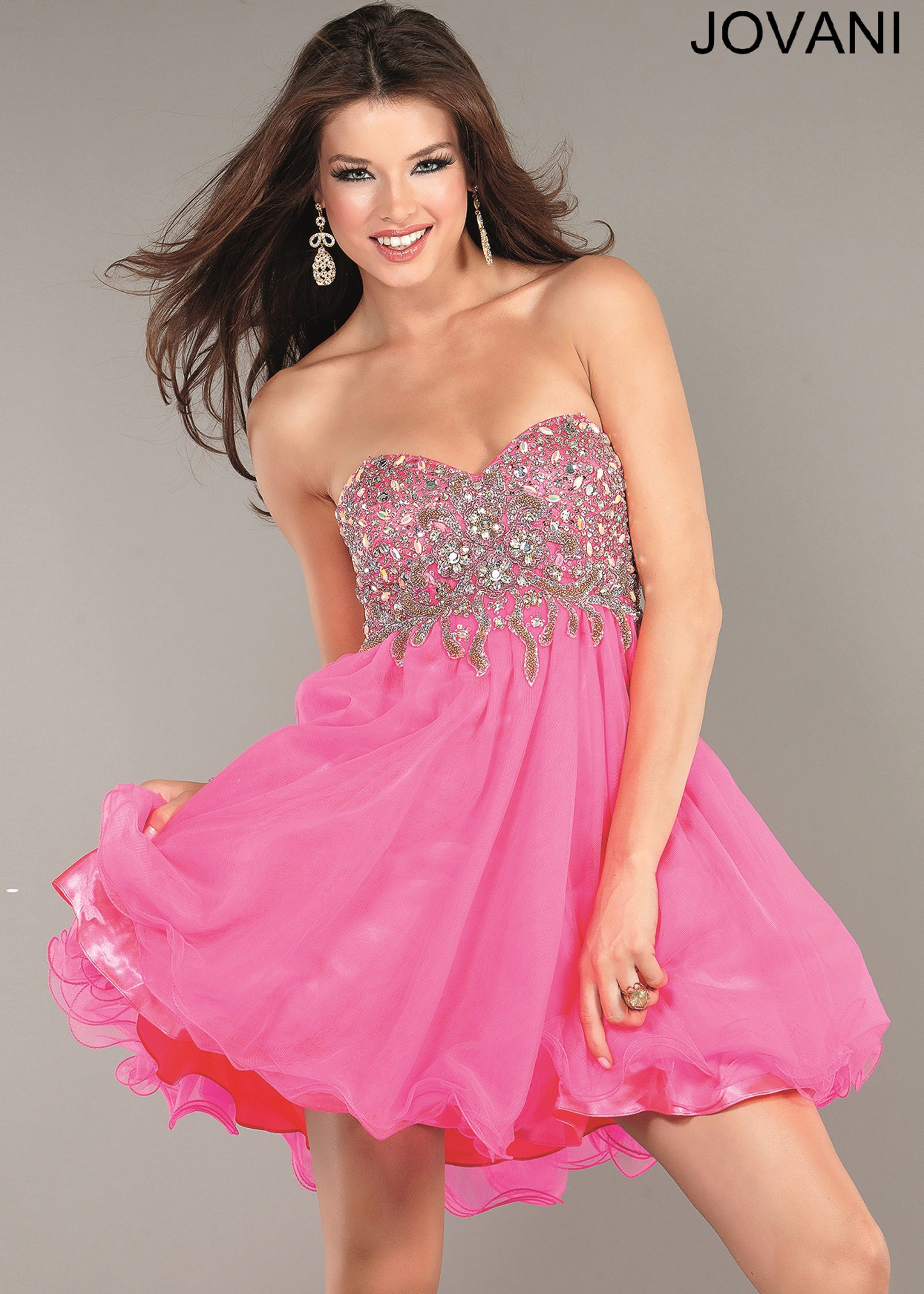 Pink Prom Dresses 2013 Hot Pink Beaded...