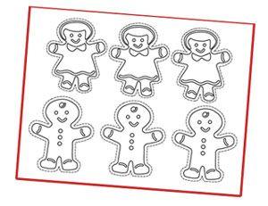 printable gingerbread christmas ornaments   Free christmas ...