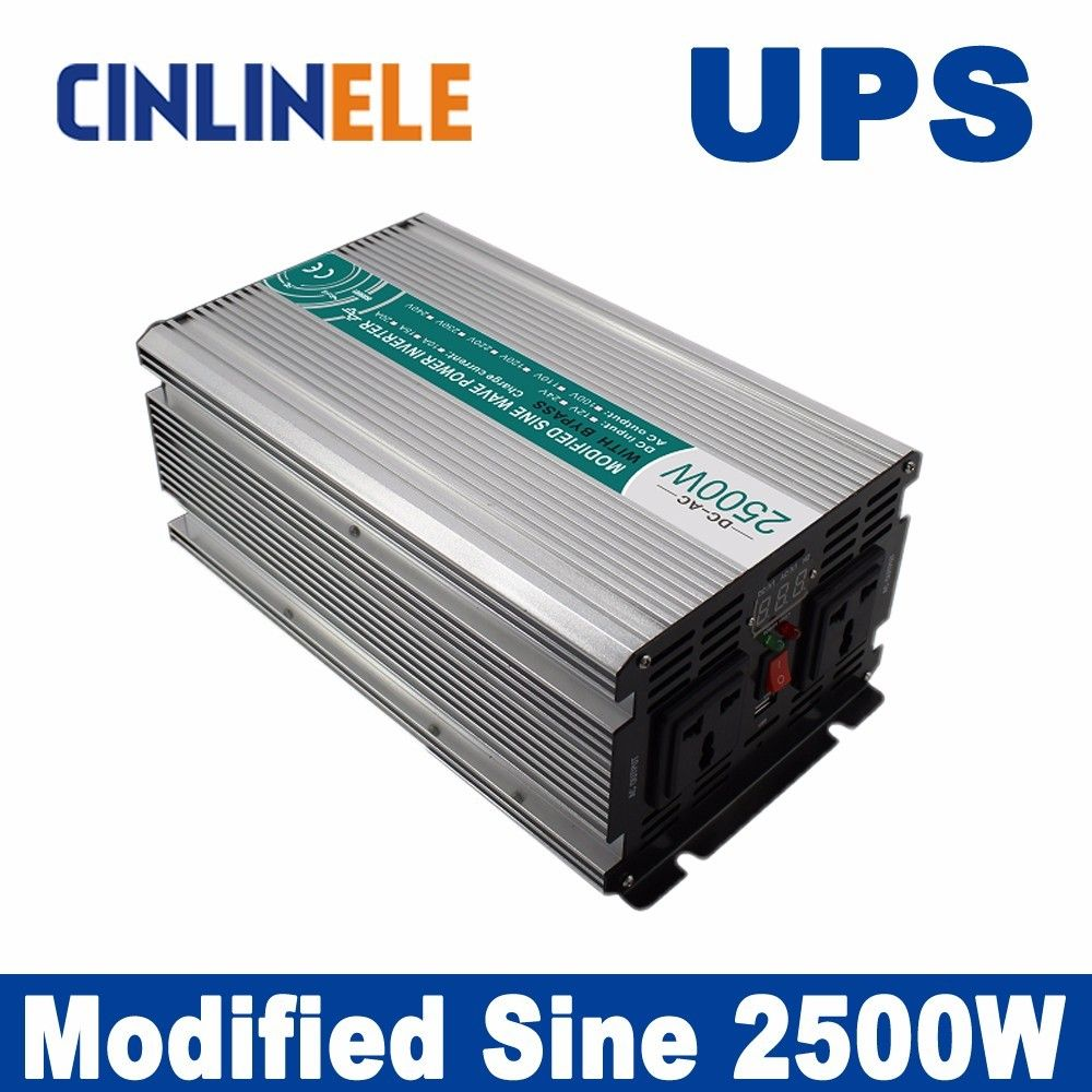 Universal inverter UPS+Charger 2500W Modified Sine Wave Inverter ...