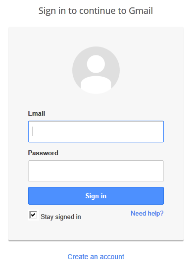 New Gmail Sign In New User