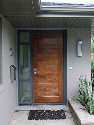 Creed 70 S Bungalow Makes A Modern Impression Modern Front Door Wooden Front Doors Contemporary Front Doors
