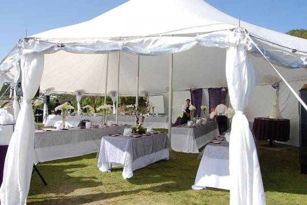 A pristine white tidewater tent for events | Tent wedding ...