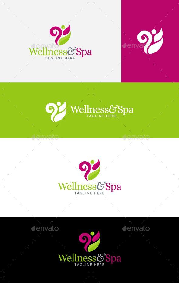 Tree Logos Wellness And Spa Logo Design Template