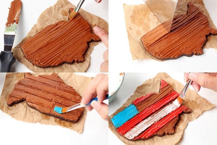 How to Make Simple Rustic American Flag Cookies   The Bearfoot Baker