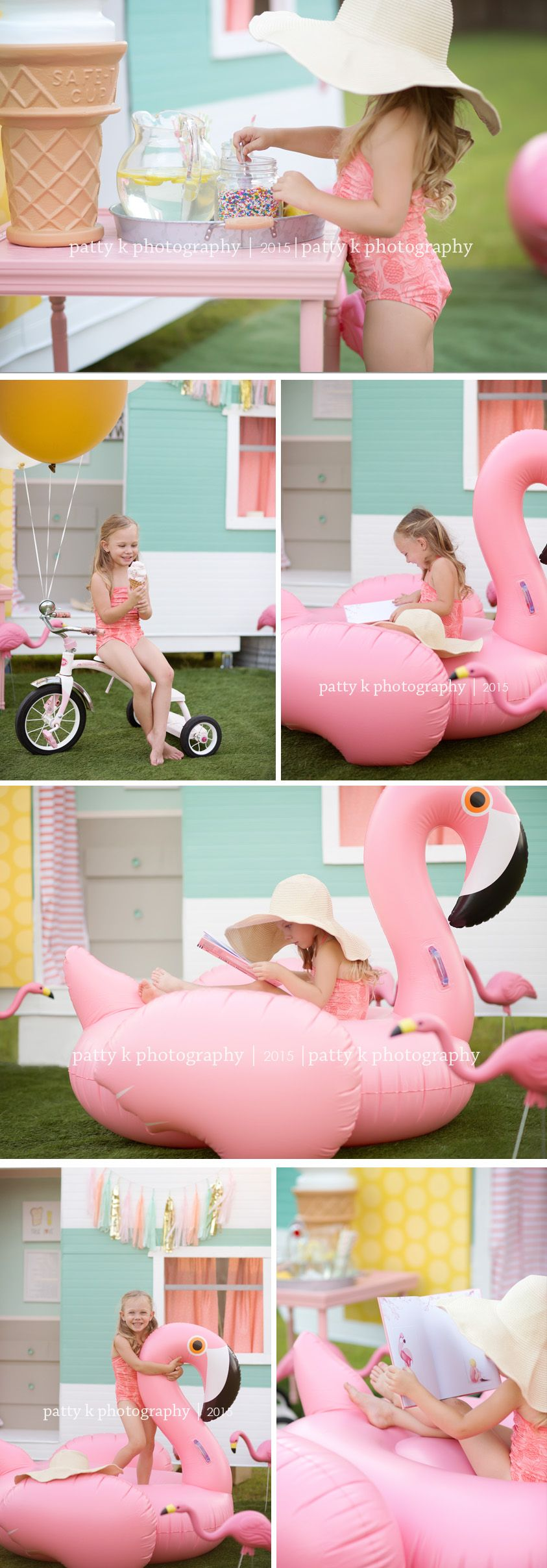 Flamingos And Sprinkles Imagination Session Fayetteville Nc Photographer Children Photography Photography Mini Sessions Baby Photography