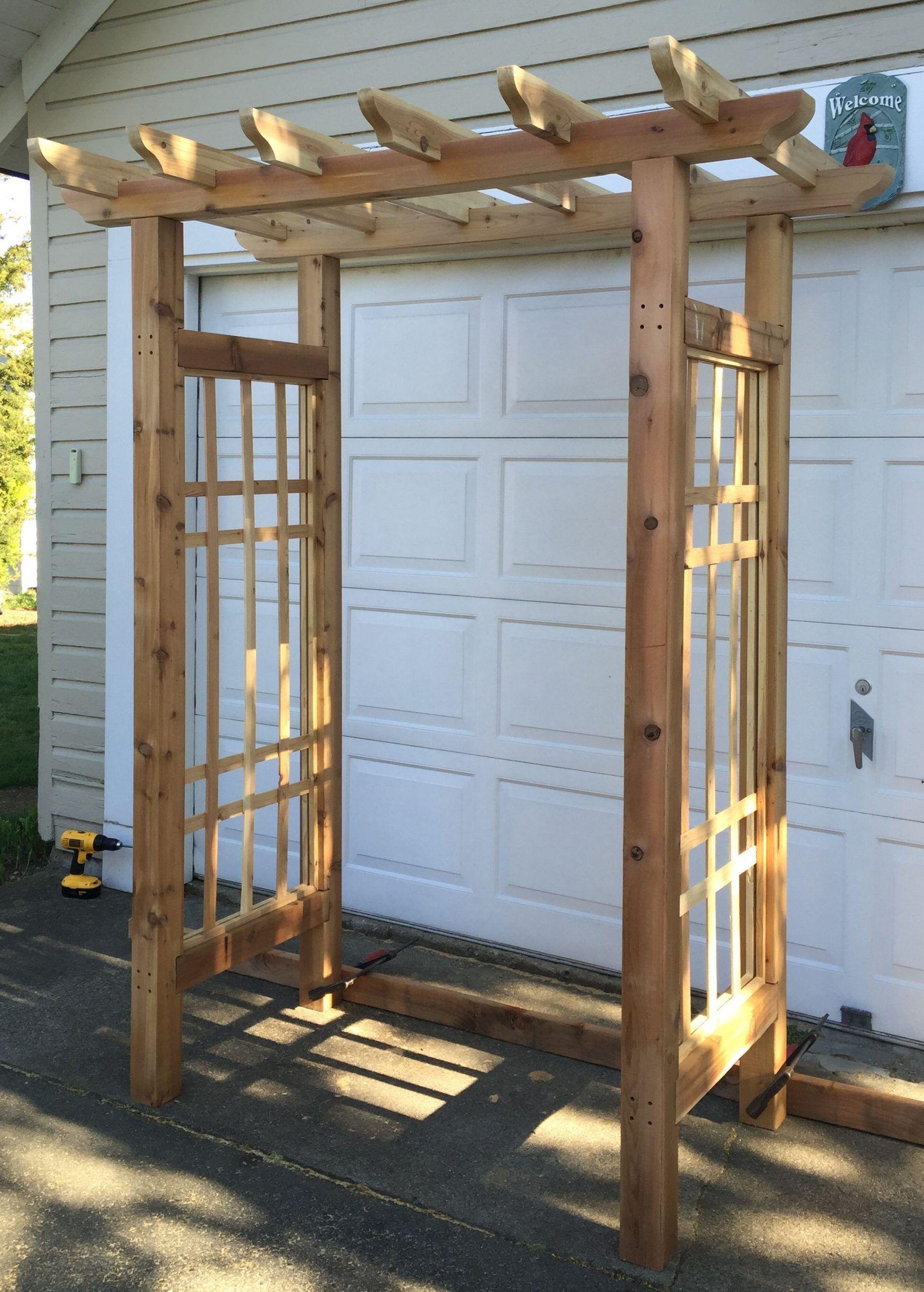 Custom made cedar wood trellis wedding rental wedding arch