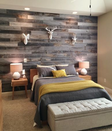 Lovely Bedroom Wall Reclaimed Wood Paneling