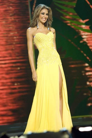 2008 Miss Universe: Miss Venezuela - Dayana Mendoza Evening Gown ...