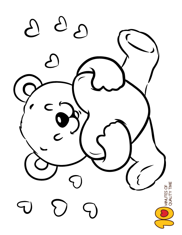 Teddy Bear Holding A Heart Coloring Page Valentine Coloring Valentine Coloring Pages Teddy Bear Coloring Pages