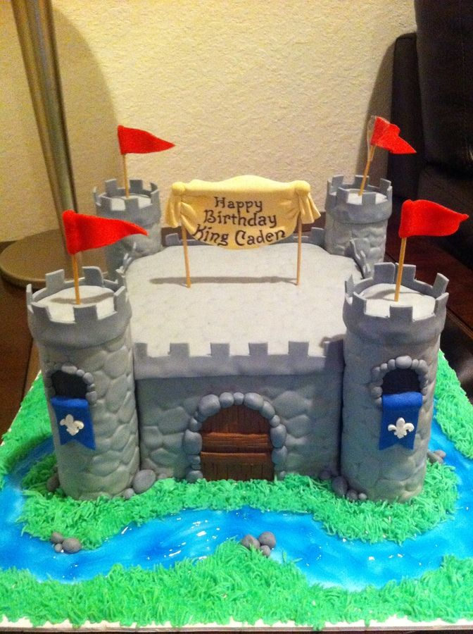 Boy Castle Cake Birthday Cakes