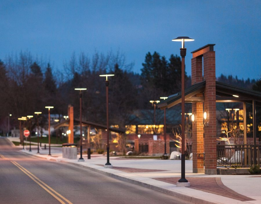 Mceuen park in coeur dalene transformed with lighting from luminis