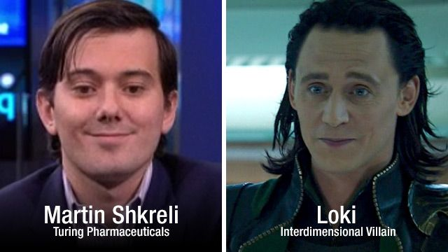 Big Pharma profiteering douchebag Martin Shkreli is actually the evil villain Loki from The Avengers!