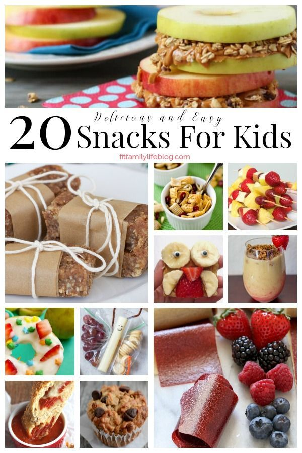 20 delicious and easy snacks for kids to fill their bellies and they are sure to love. #snacks #kidfriendly