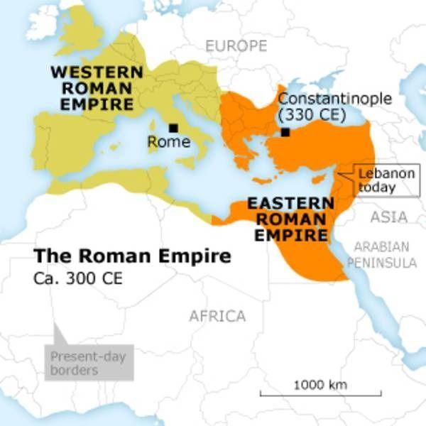 Split Roman Empire AncientClassical History Pinterest Roman - Ancient rome map byzantium