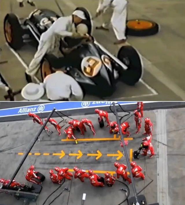 Formula 1 Pit Stops 1950 Vs Today Formula 1 Pit Race Day