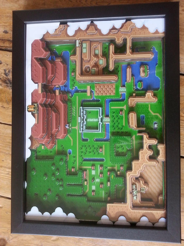 Reserved For Jeanine Legend Of Zelda A Link To The Past Etsy Legend Of Zelda Game Art Paper Diorama