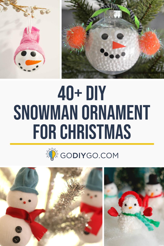 45 Diy Snowman Ornament For Christmas Godiygo Com Diy Snowman Ornaments Diy Christmas Ornaments Diy Snowman