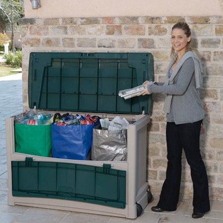 Coffre De Tri Selectif En Resine 510 L Keter In 2020 Outdoor Storage Outdoor Storage Box Storage