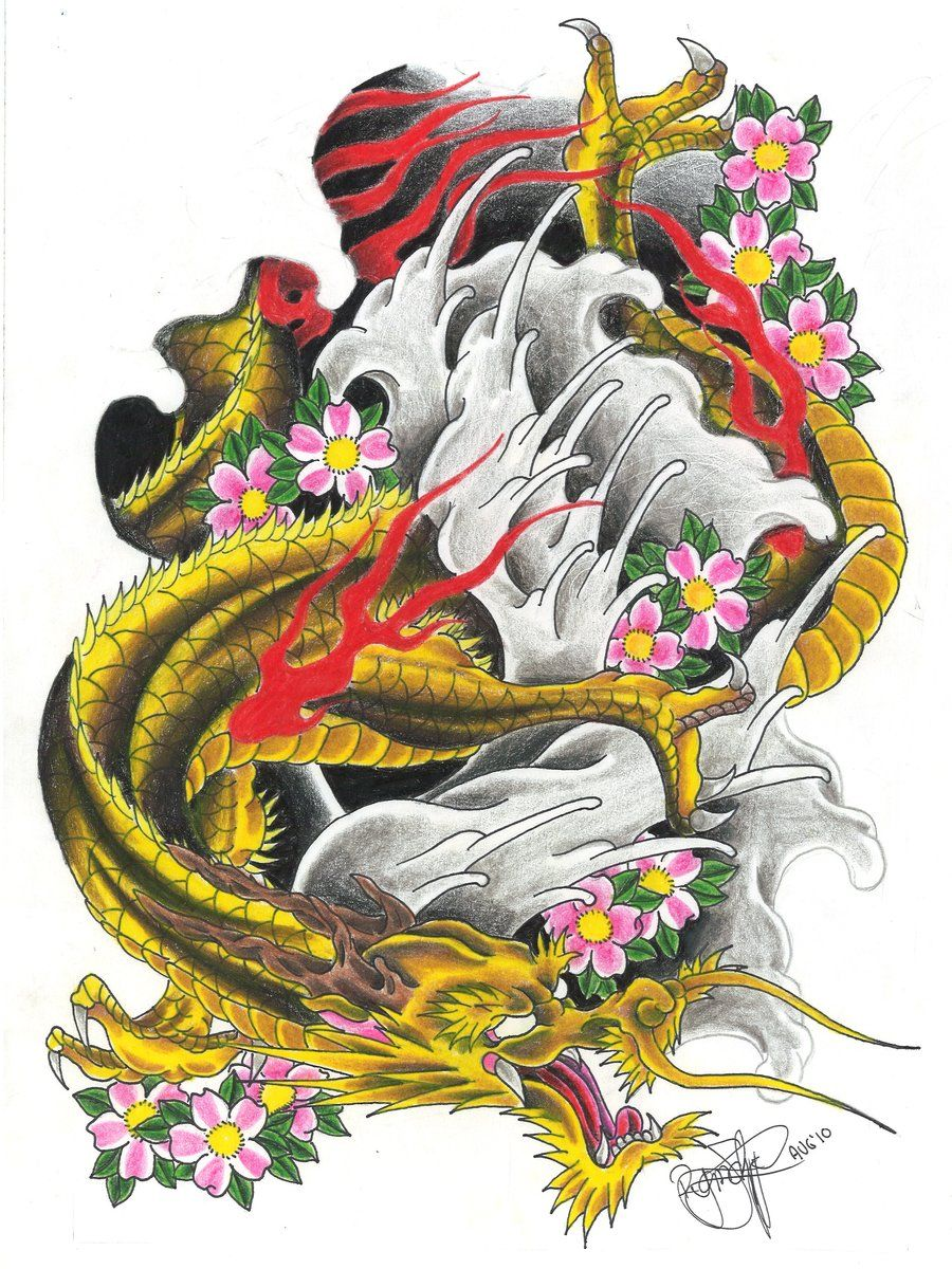 dragon tattoo flash hd deviantart more like japanese phoenix full sleeve by dude 4. Black Bedroom Furniture Sets. Home Design Ideas