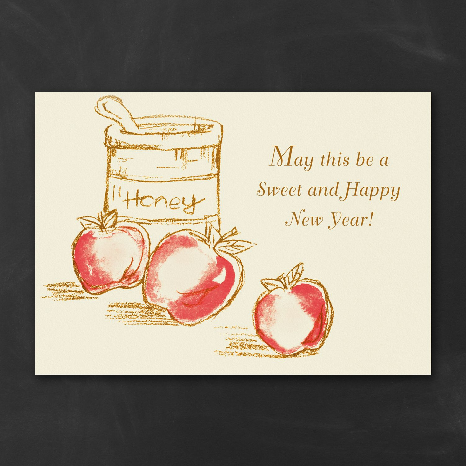 A Sweet Greetings Jewish New Year Card New year card