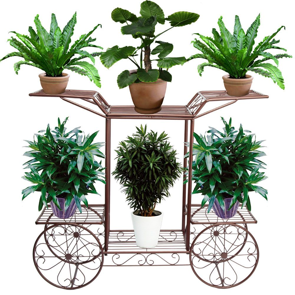 Iron Flower Pot Plant Stands Bonsai