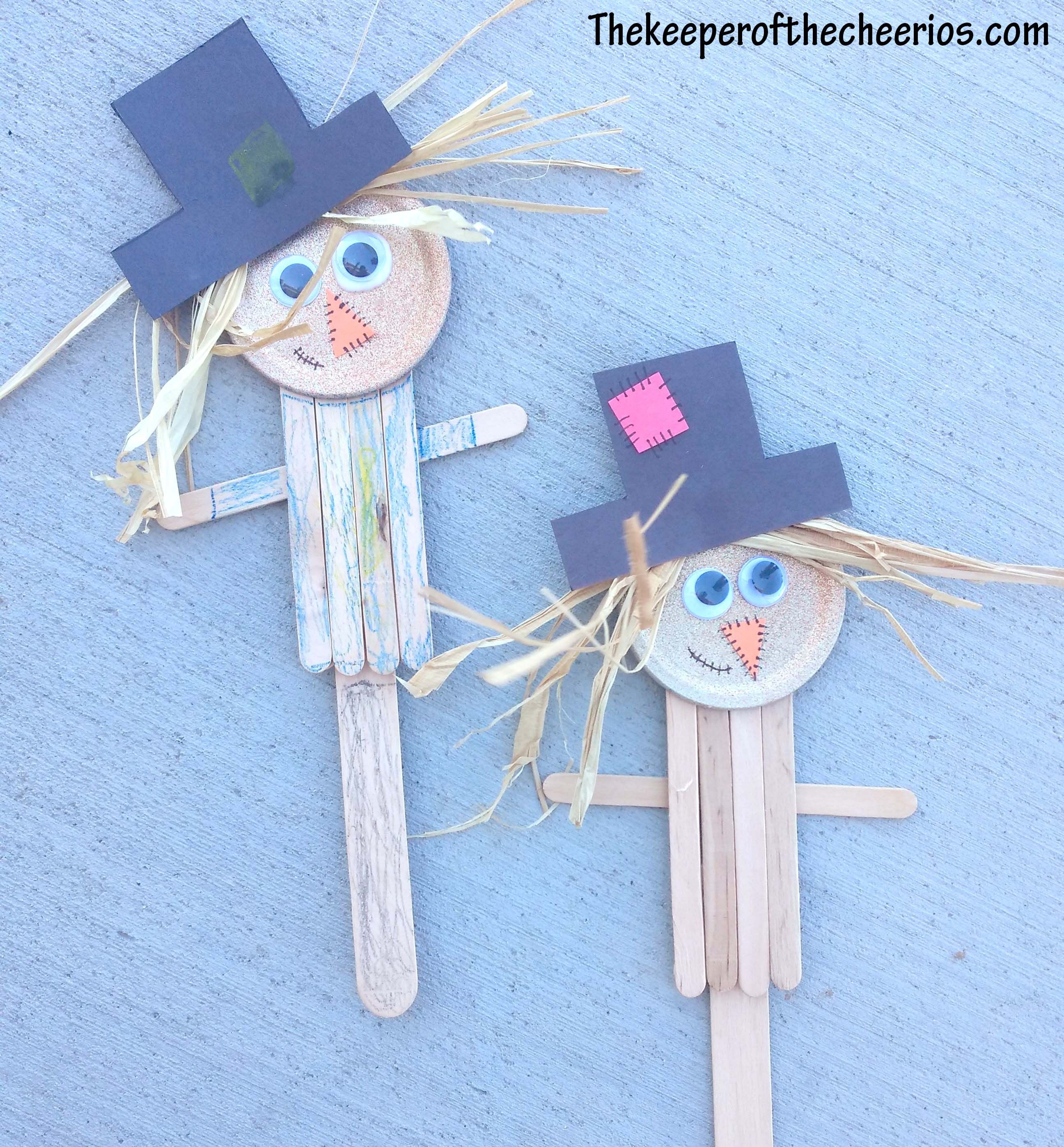 Scarecrow Popsicle Stick Craft
