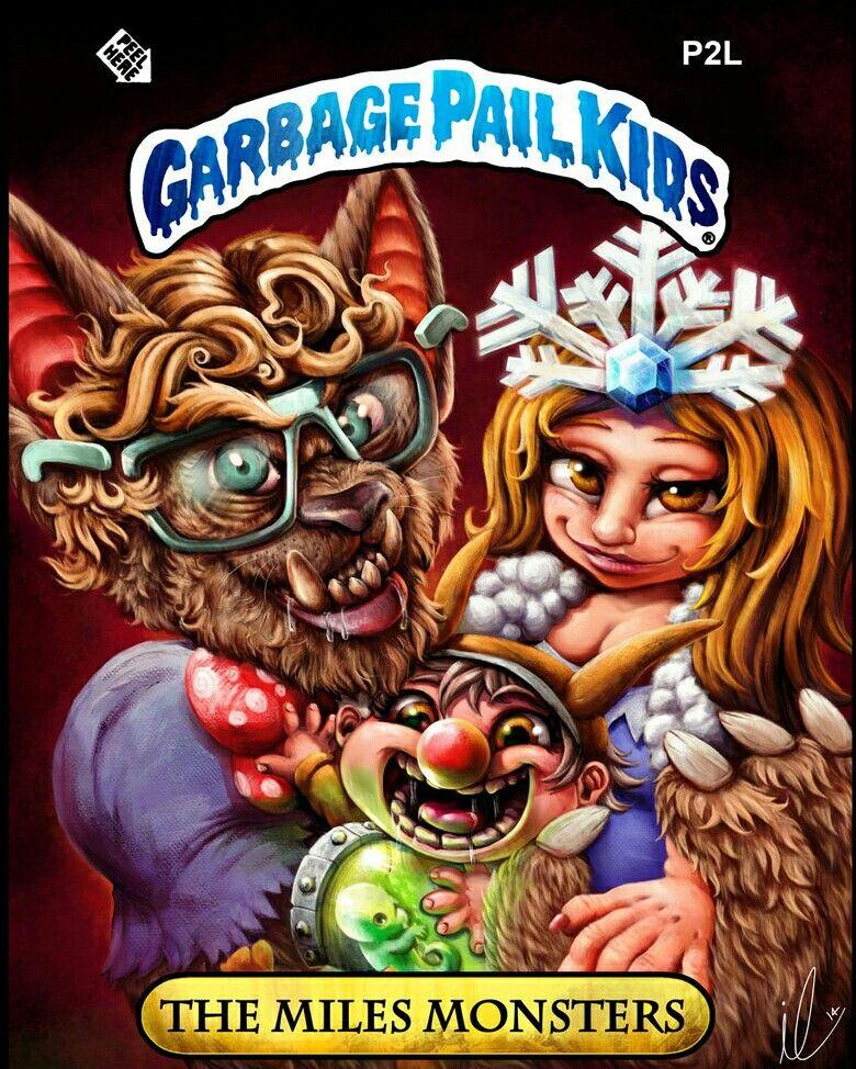 Garbage Pail Kids The Miles Monsters Garbage Pail Kids Garbage Pail Kids Cards Simpsons Art
