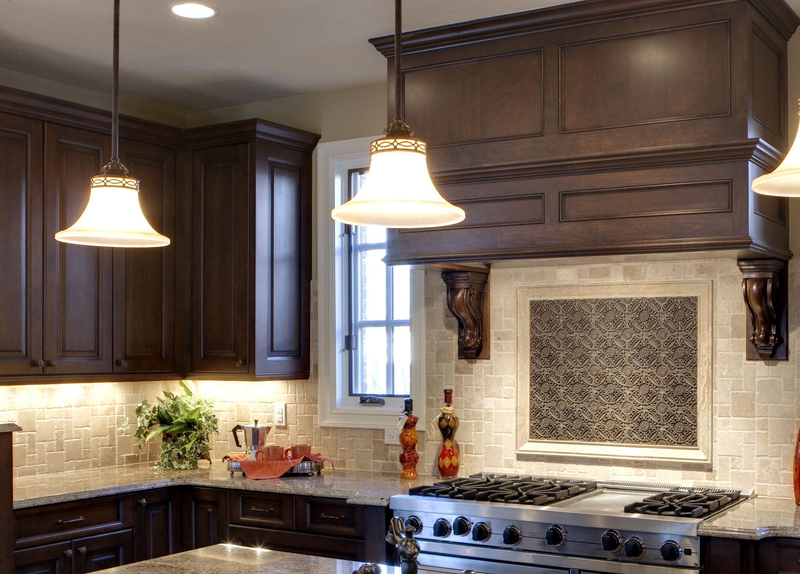 "Prasada Kitchens And Fine Cabinetry: PRASADA Dark Stained Hood With 48"" Range. Www"