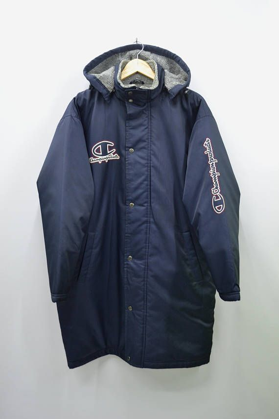 Vintage Champion Windbreakers Spellout Big Logo Zip Jacket