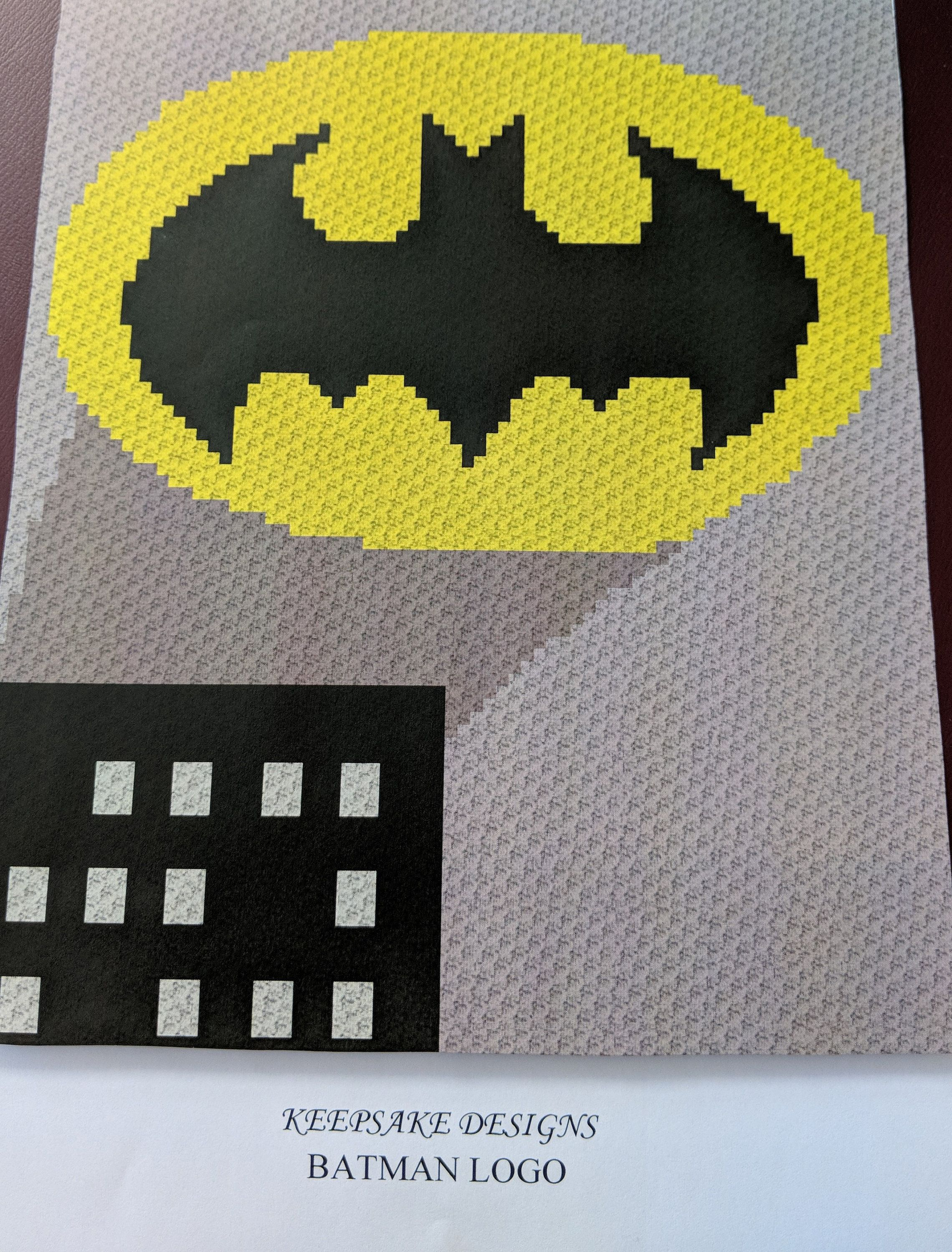 Batman Logo Teenadult Size Corner To Corner Crochet Blanket
