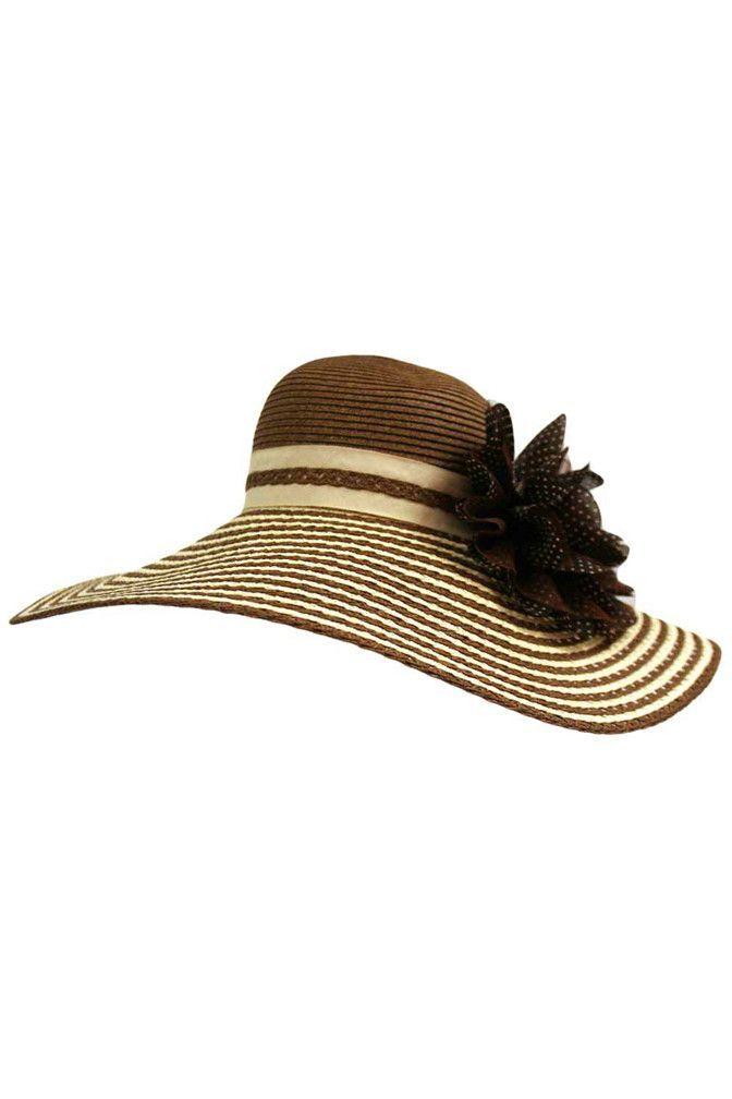 Floppy Wide Brim Sun Hat With Flower | Tejidos | Pinterest | Gorro ...