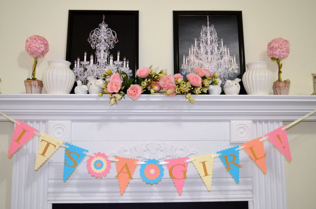 IT\'S A GIRL Baby Shower Decorations, gender Announcement Banner ...