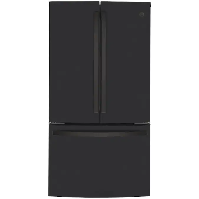 Ge 23 1 Cu Ft Counter Depth French Door Refrigerator With Ice Maker Fingerprint Resistant Black Slate Energy Star Lowes Com In 2020 Counter Depth French Door Refrigerator French Door Refrigerator Counter Depth