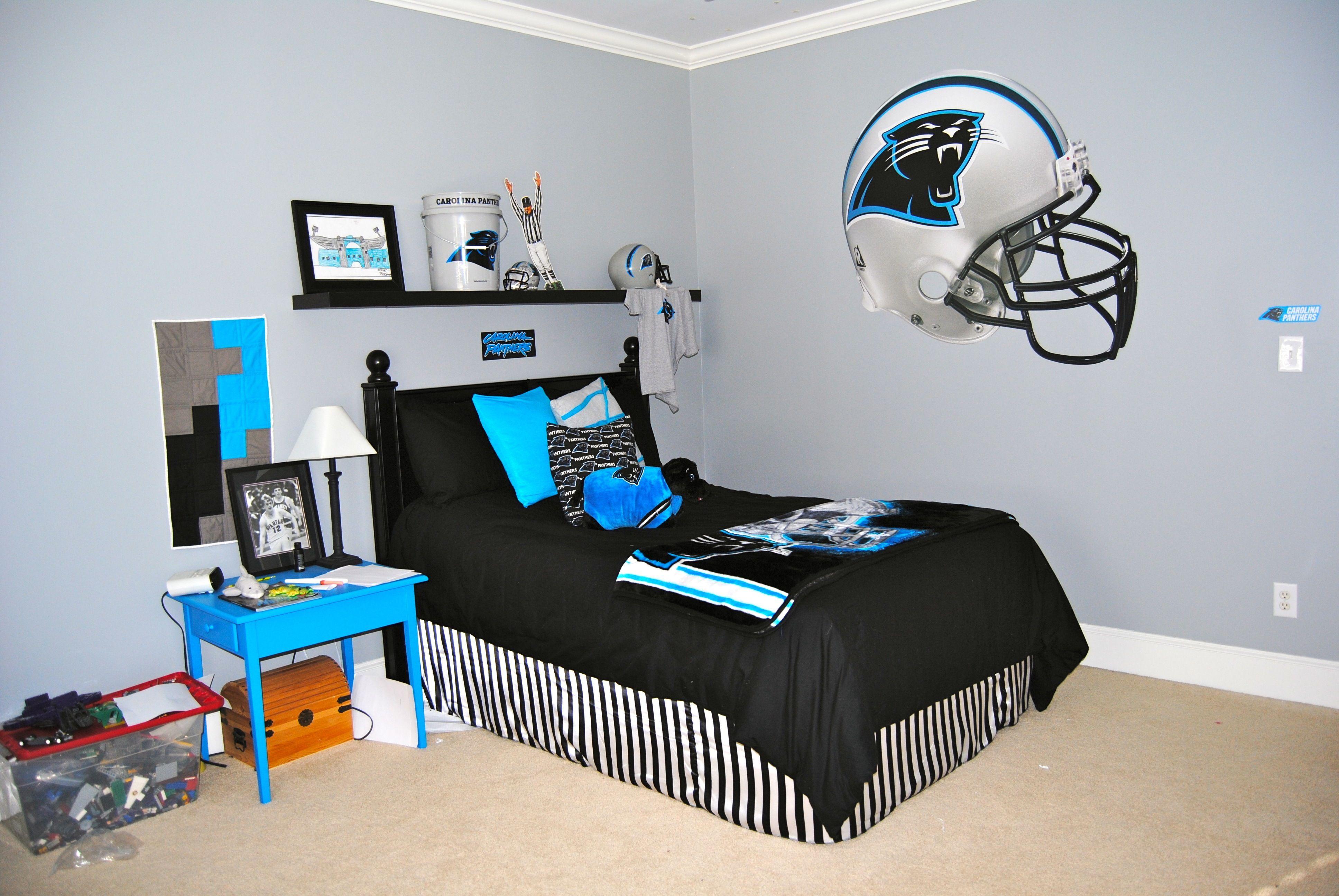 Carolina Panthers Bedroom Childrens Bedroom Decor Bedroom Decor