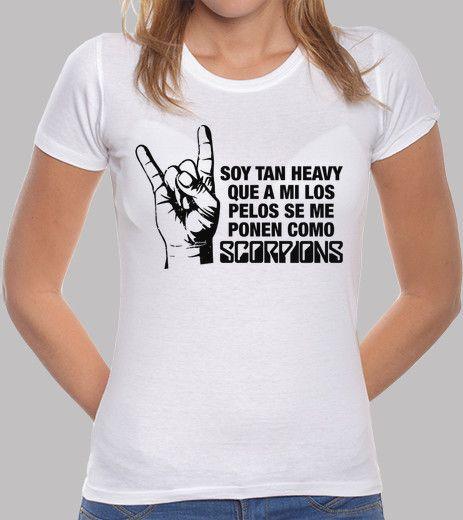 Camiseta Pelos como Scorpions (parche negro)