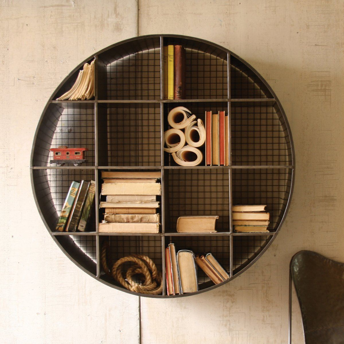 Round Industrial Wall Shelf In 2019 Industrial Wall