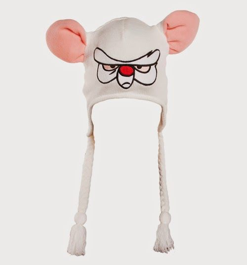 pinky and the brain costume lolol with the hat