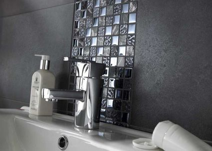 Marvelous Black Natural Marble Stone U0026 Glass Mosaic Tiles · Bathroom CladdingBathroom  Wall ...