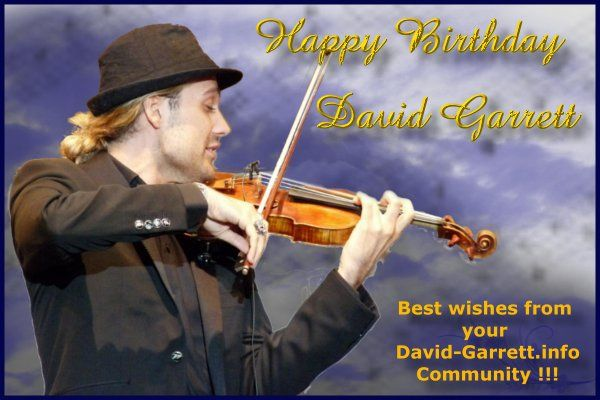 Happy Birthday #DavidGarrett !