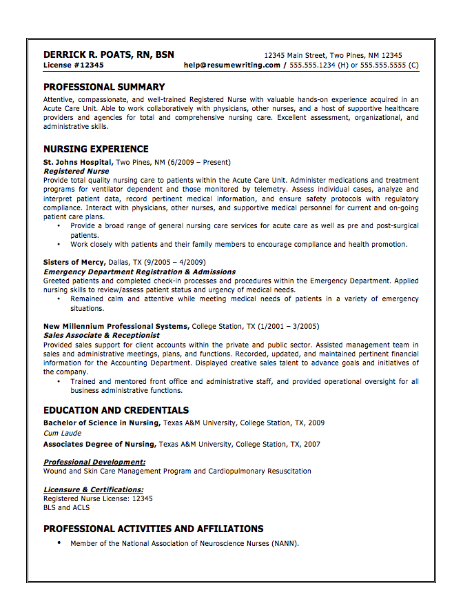 Hospitality Resume Writing Example - http://www.resumecareer.info ...