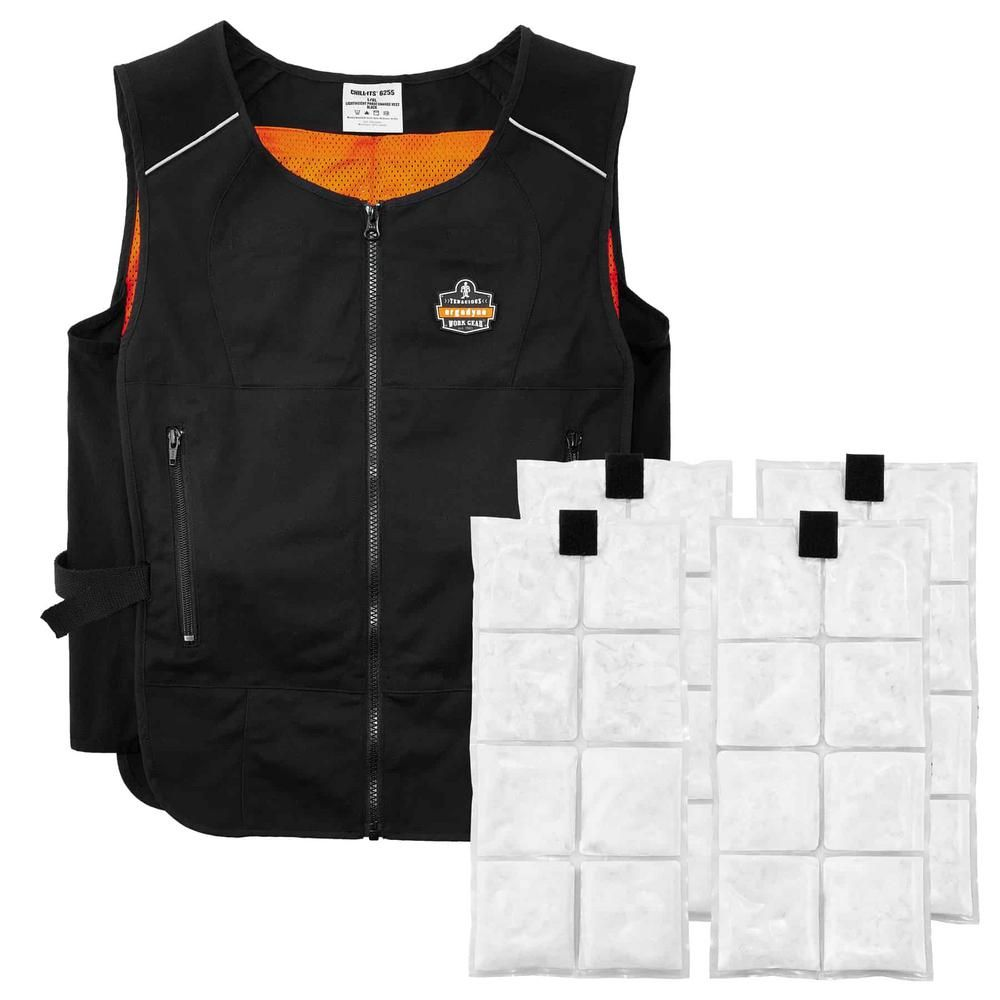Chill Its Small Medium Black Lightweight Phase Change Cooling Vest With Packs 6260 In 2020 With Images Cooling Vest Vest Womens Safety
