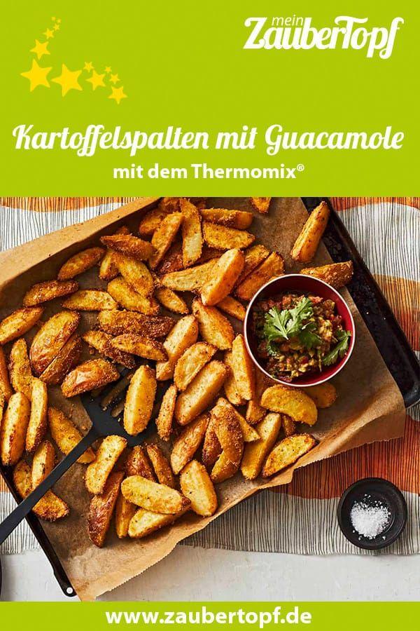 Kartoffelspalten mit Guacamole – Rezept für den Thermomix